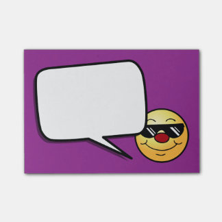 Moody Smiley Face Grumpey Post-it® Notes