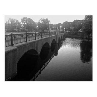 Moody St Bridge Waltham Ma Postcard