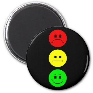 Moody Stoplight 2 Inch Round Magnet
