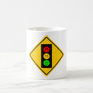 Moody Stoplight Ahead Classic White Coffee Mug