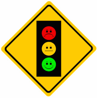 Moody Stoplight Ahead Cutout