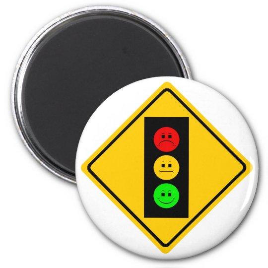 Moody Stoplight Ahead Magnet