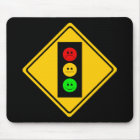 Moody Stoplight Ahead Mouse Pad
