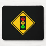 Moody Stoplight Ahead Mouse Pad