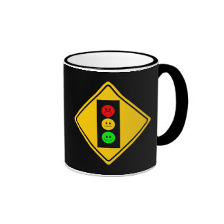 Moody Stoplight Ahead Ringer Coffee Mug