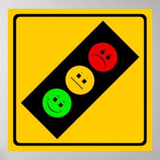 Moody Stoplight Ahead Posters