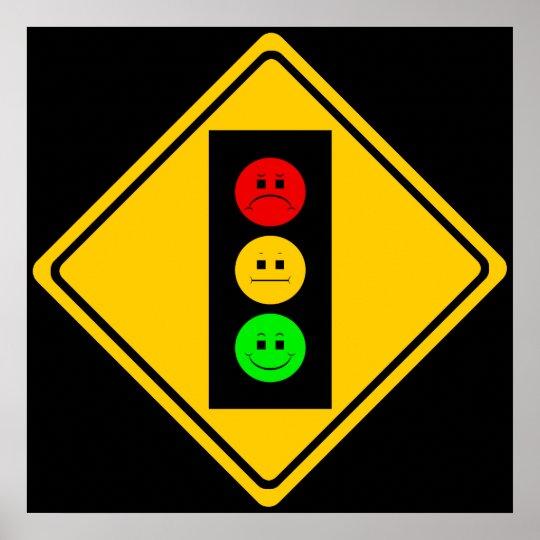 Moody Stoplight Ahead Poster