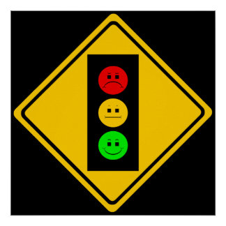 Moody Stoplight Ahead Poster