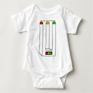 Moody Stoplight Blivet with Caption Infant Creeper