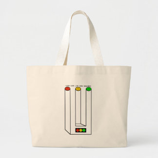 Moody Stoplight Blivet with Caption Large Tote Bag