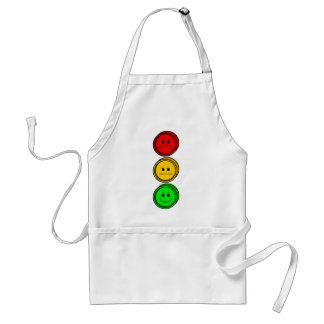 Moody Stoplight Buttons Apron