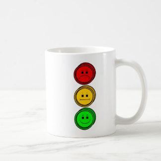 Moody Stoplight Buttons Classic White Coffee Mug