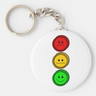 Moody Stoplight Buttons Keychains
