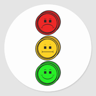 Moody Stoplight Buttons Stickers
