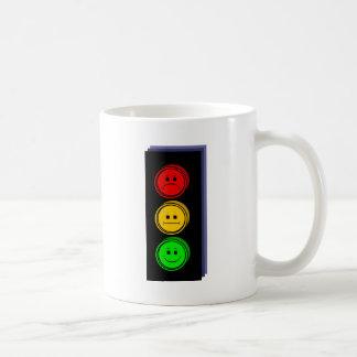 Moody Stoplight Extruded Classic White Coffee Mug
