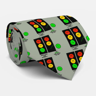 Moody Stoplight Geniuses Think Outside The Box Neck Tie