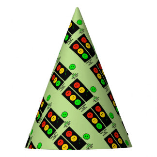 Moody Stoplight Geniuses Think Outside The Box Party Hat
