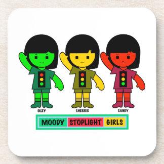 Moody Stoplight Girls in Shorts Coaster