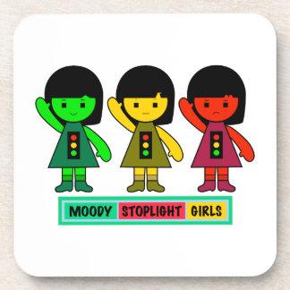 Moody Stoplight Girls w/ Label Coaster