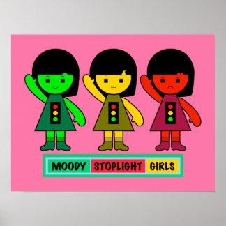Moody Stoplight Girls w/ Label Poster