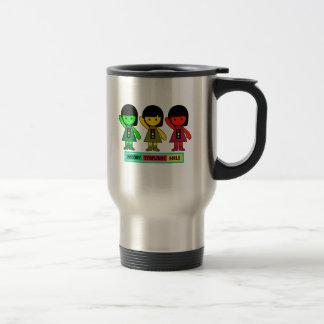 Moody Stoplight Girls w/ Label Travel Mug
