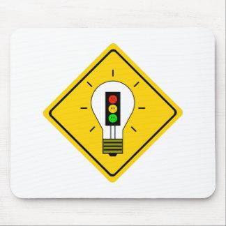 Moody Stoplight Lightbulb Ahead Mouse Pad