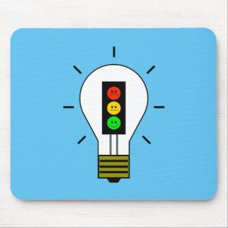 Moody Stoplight Lightbulb Mouse Pad