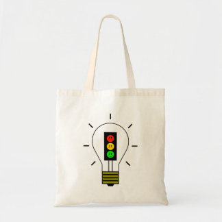 Moody Stoplight Lightbulb Tote Bag