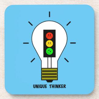 Moody Stoplight Lightbulb Unique Thinker Coaster