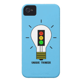 Moody Stoplight Lightbulb Unique Thinker iPhone 4 Case-Mate Case