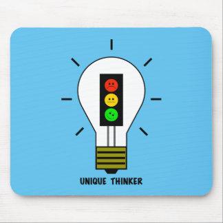 Moody Stoplight Lightbulb Unique Thinker Mouse Pad