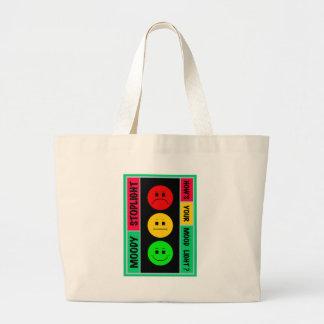 Moody Stoplight Logo Large Tote Bag