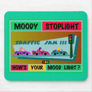 Moody Stoplight Logo Traffic Jam Mouse Pad