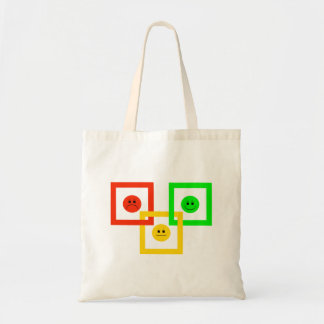 Moody Stoplight Squarely Interlinked Tote Bag
