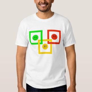 Moody Stoplight Squarely Interlinked, G-Y-R Read'g T-shirt