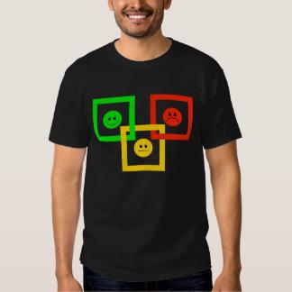 Moody Stoplight Squarely Interlinked, G-Y-R Read'g T Shirt