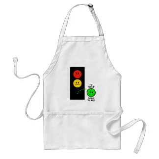 Moody Stoplight Thinking Outside The Box Adult Apron