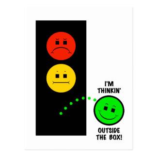 Moody Stoplight Thinking Outside The Box Postcard