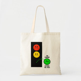Moody Stoplight Thinking Outside The Box Tote Bag