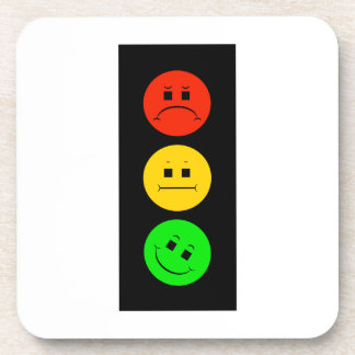 Moody Stoplight Tilted Green Coaster