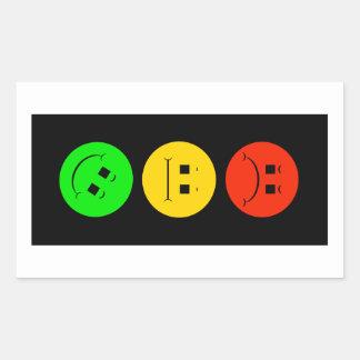 Moody Stoplight Tilted Green Rectangular Sticker