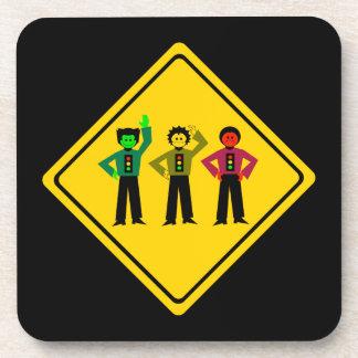 Moody Stoplight Trio Ahead Coaster
