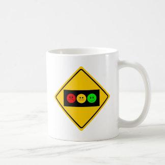 Moody Stoplight Trio Ahead Classic White Coffee Mug