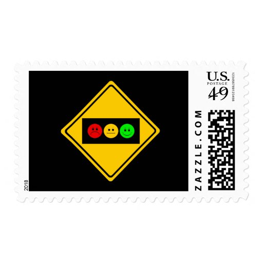 Moody Stoplight Trio Ahead Stamp