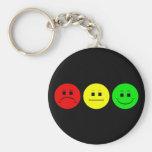 Moody Stoplight Trio Basic Round Button Keychain