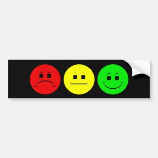 Moody Stoplight Trio Bumper Stickers