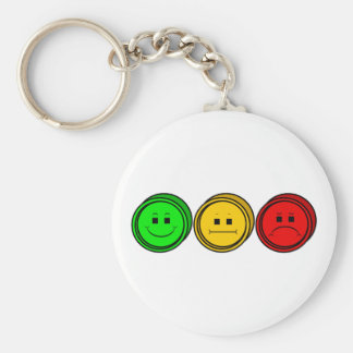 Moody Stoplight Trio Buttons Key Chain