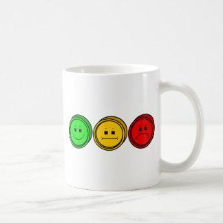 Moody Stoplight Trio Buttons Classic White Coffee Mug