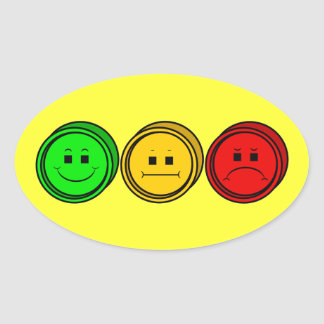 Moody Stoplight Trio Buttons Stickers