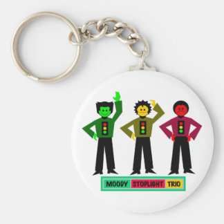 Moody Stoplight Trio Characters Key Chains